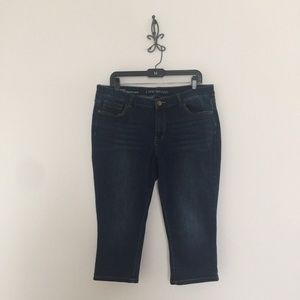 Lane Bryant Low Rise Super Stretch Denim Capris 18